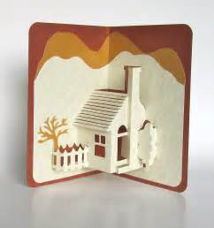 3d card templates home pop up 3d card home d 233 cor origamic architecture handmade