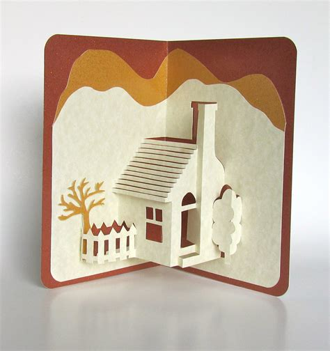 Handmade 3d Cards - home pop up 3d card home d 233 cor origamic architecture handmade