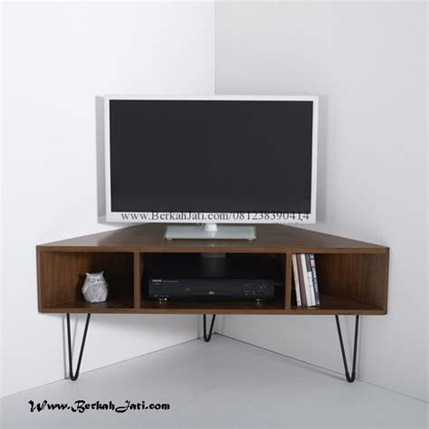 Rak Tv Bahan Kayu rak tv minimalis sudut kayu jati berkah jati furniture berkah jati furniture
