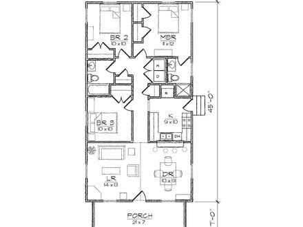 Narrow Lot House Floor Plans Narrow House Plans With Rear Bungalow House Plans With Garage In Back