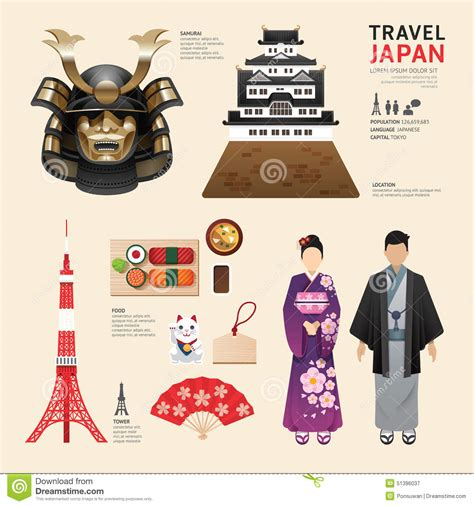 flat icon design japan japan flat icons design travel concept vector stock vector