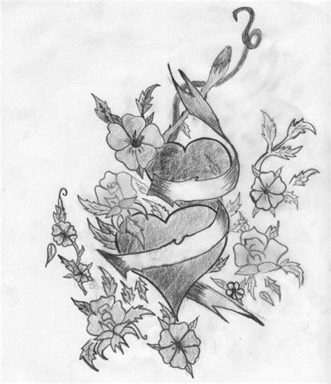 imagenes para dibujar a lapiz de corazones con alas dibujos artisticos de corazones hechos a l 225 piz