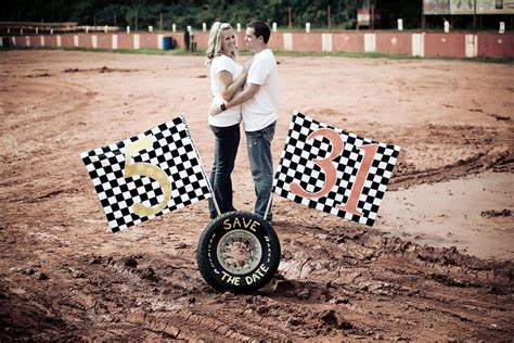 Wedding Car Track by On The Speedway Race Track Engagement Photos With