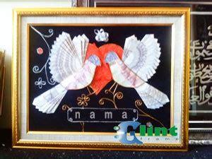 Lukisan Burung Custom tempat buat mahar burung merpati glint frame tempat pembuatan bingkai kaligrafi lukisan