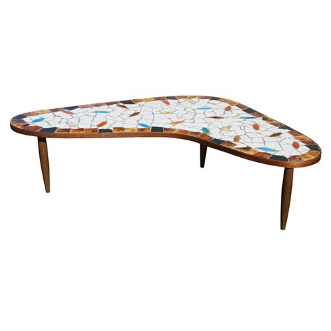 Mid Century Modern Coffee Tables Mid Century Modern Boomerang Wood Tile Coffee Table Ebay