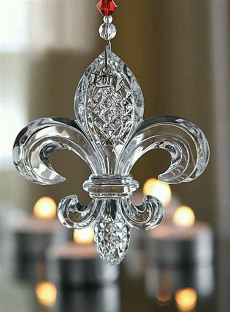 fleur de lis christmas ornament for the home pinterest