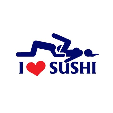 jdm sticker rear window i love sushi sticker car window van rear windshield truck