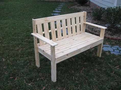pine garden bench yellow pine garden bench by dan hux lumberjocks com