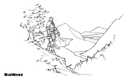 dragon age coloring page bioware teases dragon age coloring book
