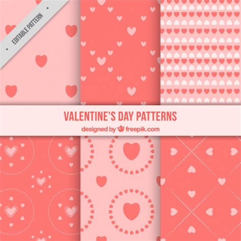 Cute Valentine Pattern | cute valentine s day patterns in pink tones vector free