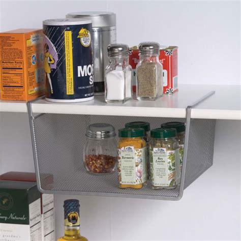 under cabinet basket storage silver mesh under shelf storage basket small in under