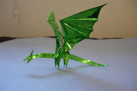 dragon origami tutorial easy simple dragon by origami artist galen on deviantart