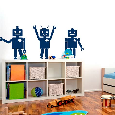 robotic wall robot wall decals r wall decal
