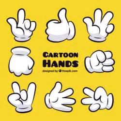 Cartoon hand gestures vector premium download