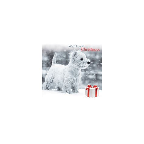 Charity Cards Usa - snowy westie cards west highland terrier