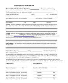 Personal Services Contract Template by Sle Service Contract 10 Exles In Pdf Word