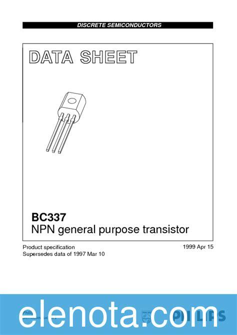 bc337 npn transistor datasheet pdf bc337 datasheet pdf 57 kb philips pobierz z elenota pl