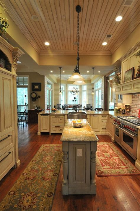 Center Islands In Kitchens Southern Coastal Homes With A Bigger Center Island Though Ceiling Dining Dishwasher Drawers
