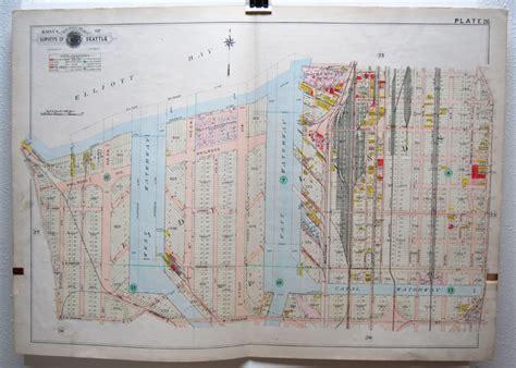 elliott bay seattle map antique washington state and pacific northwest maps