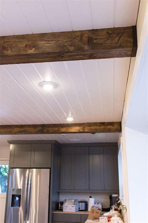 Diy Faux Ceiling Beams by Kitchen Chronicles Diy Wood Beams Sue Design