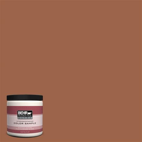 behr premium plus ultra 8 oz ul120 4 antique copper interior exterior paint sle ul120 4