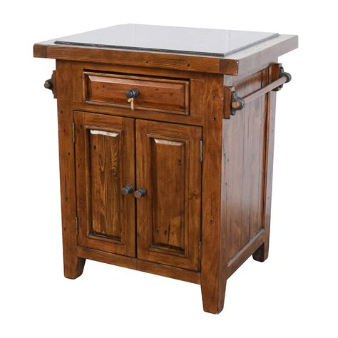 wooden kitchen island table 65 off wood kitchen island with black marble top tables