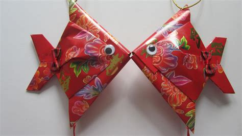 origami new year decorations cny tutorial no 28 small packet hongbao fish