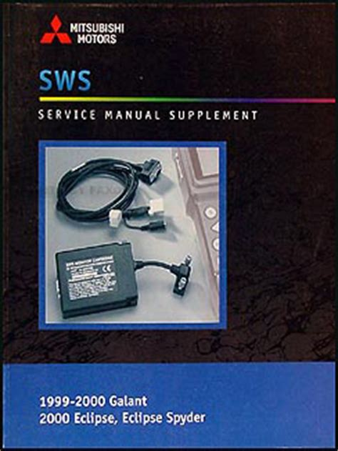 best auto repair manual 2004 mitsubishi galant interior lighting 1999 2000 mitsubishi galant 2000 eclipse spyder repair shop manual diagnosis supp