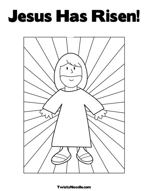 jesus is risen coloring page coloring home