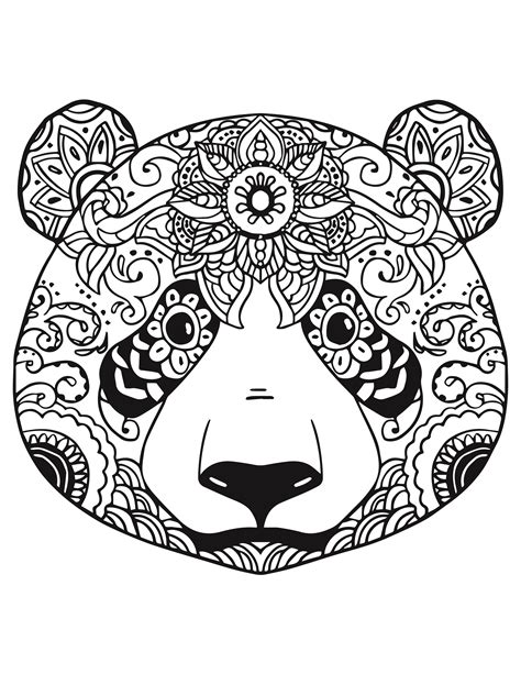 tattoo panda dessin g 233 nial coloriage mandala animaux pandas
