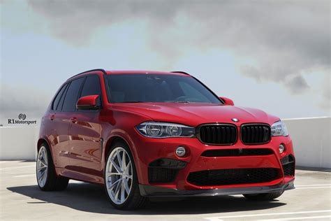 red bmw x5 melbourne red bmw x5 m gets classy looking hre wheels
