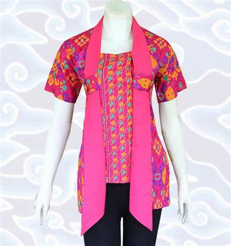 Blus Blouse Atasan Batik Wanita Candi Biru blouse batik bm126 di http senandung net blus batik wanita modern baju atasan blus batik