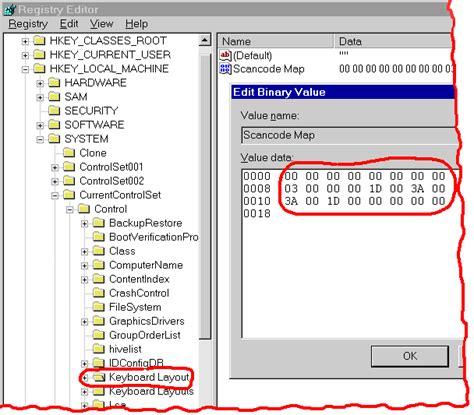 keyboard layout scancode map doing ms windows