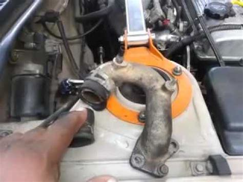 how to change a water by pass hose on a 1994 toyota corolla 7afe 4afe
