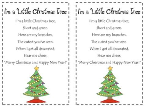 the little christmas tree poem i m a tree poetry pack by morrow tpt
