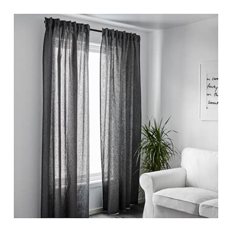 ikea grey curtains aina curtains 1 pair dark grey 145x300 cm ikea
