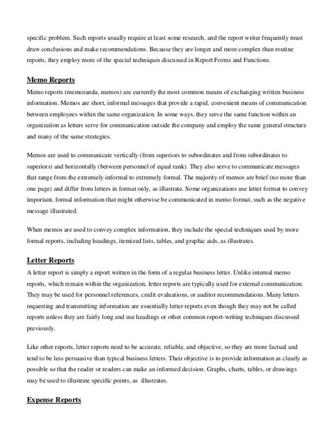 Letter Report Business Communication Written Communication Report