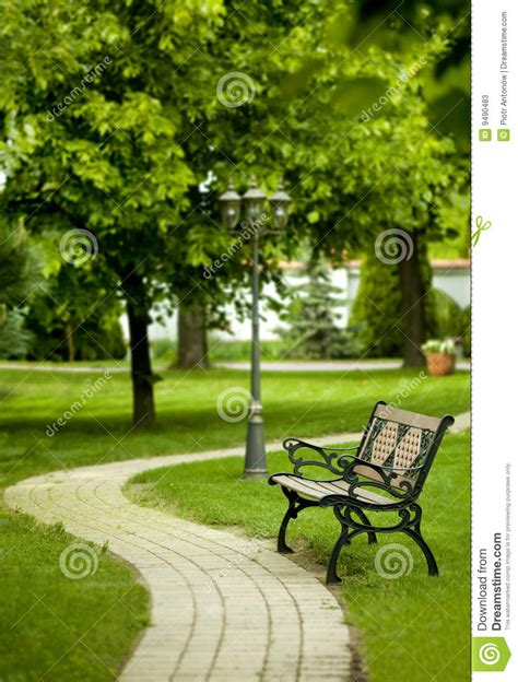 a bench in the park bench in park stock photos image 9490483