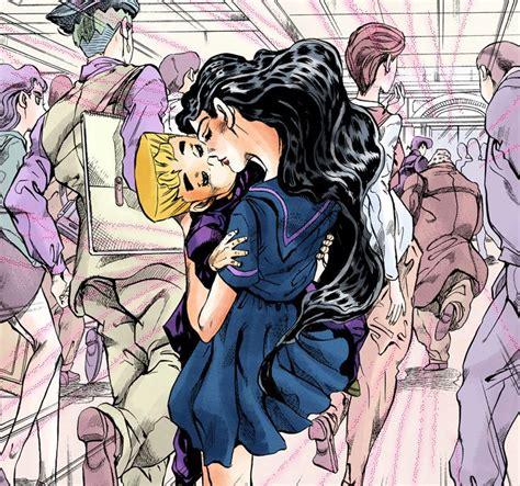 image yukako kisses koichi png jojo s bizarre