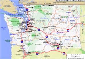 map of washington vacations travel map