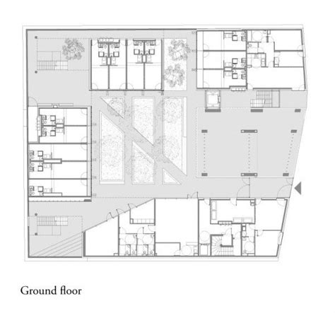 ground floor plan drawing student residence ground floor plan drawing courtesy