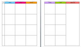 weekly planning template for teachers teachers weekly planner template