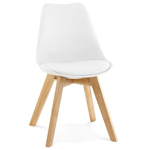 Chaise Blanche Pied En Bois by Chaise Scandinave Blanche Pieds Bois Selia