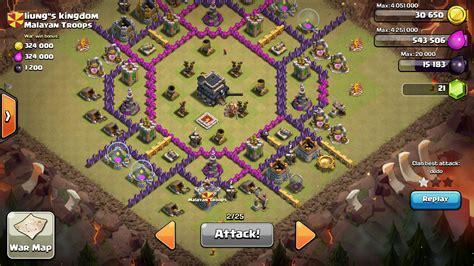 layout coc th8 unik base war terbaik dan terkuat town hall level 9 untuk war