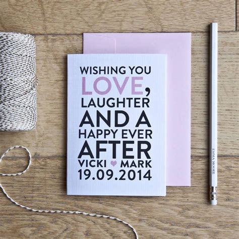 What To Write On A Wedding Gift Card - 25 best wedding card quotes ideas on pinterest
