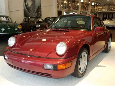 1990 porsche 911 red 1990 porsche 911 carrera 4 124 169 miles velvet red coupe
