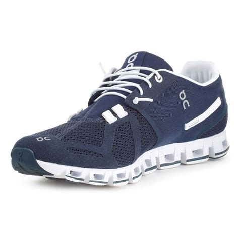 on shoes running on cloud running shoe navy white bike24