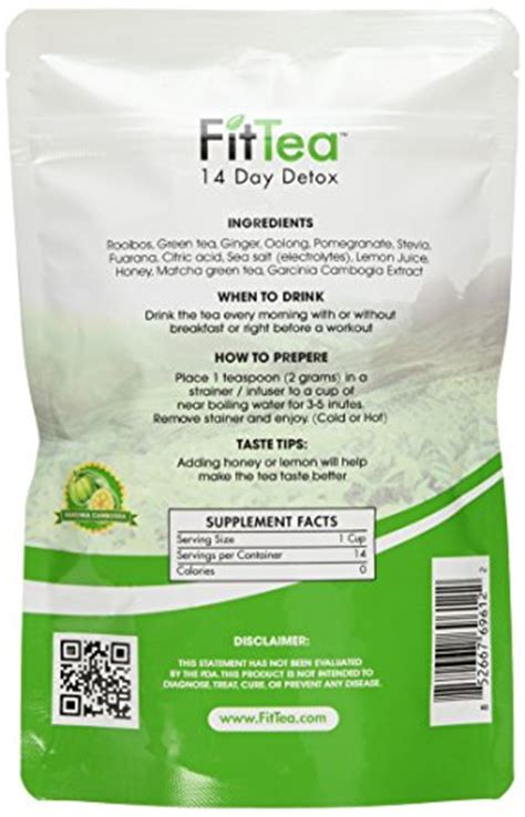 Fit Tea Detox In Stores by Fit Tea 14 Day Detox Herbal Weight Loss Tea Weight