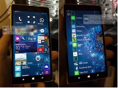 best windows mobile rumor leaked images of windows mobile 10 home screen