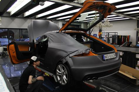 Audi Tt Folieren by Audi Tt Folierung In Anthrazit Matt Metallic Und Carbon